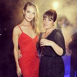 Rosie Huntington-Whiteley and Lily Allen hung out together at at event in Italy. Source: Instagram user rosiehw