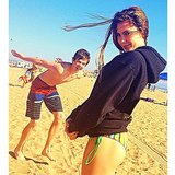 Olympic gymnast McKayla Maroney spent a day at the beach with her brother. Source: Instagram user mckaylamaroney