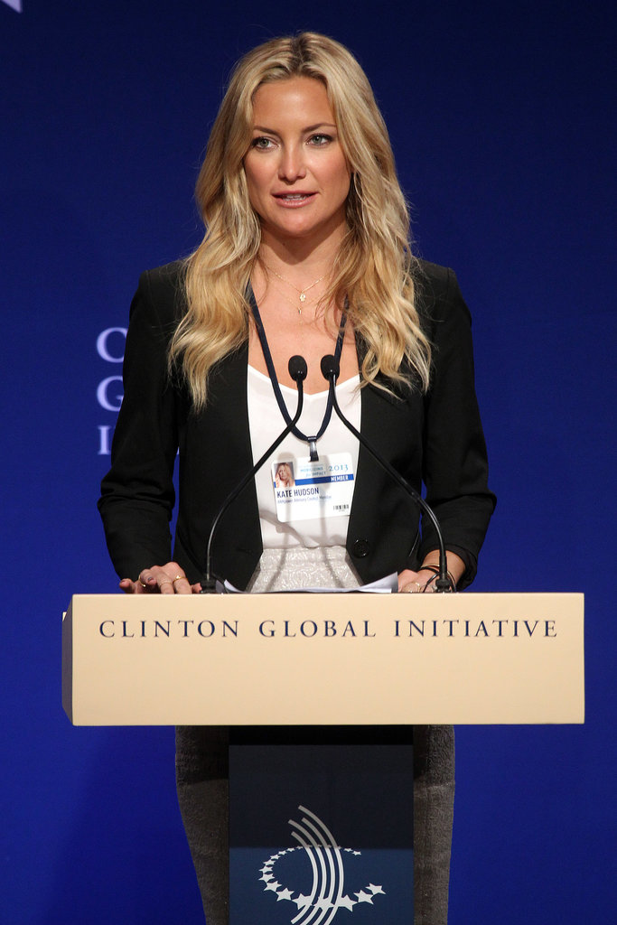 Kate Hudson was there on behalf of Ann Taylor.