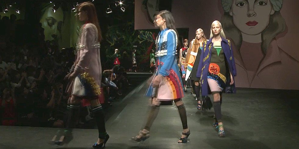 Feast Your Eyes on Prada's Bejeweled Runway