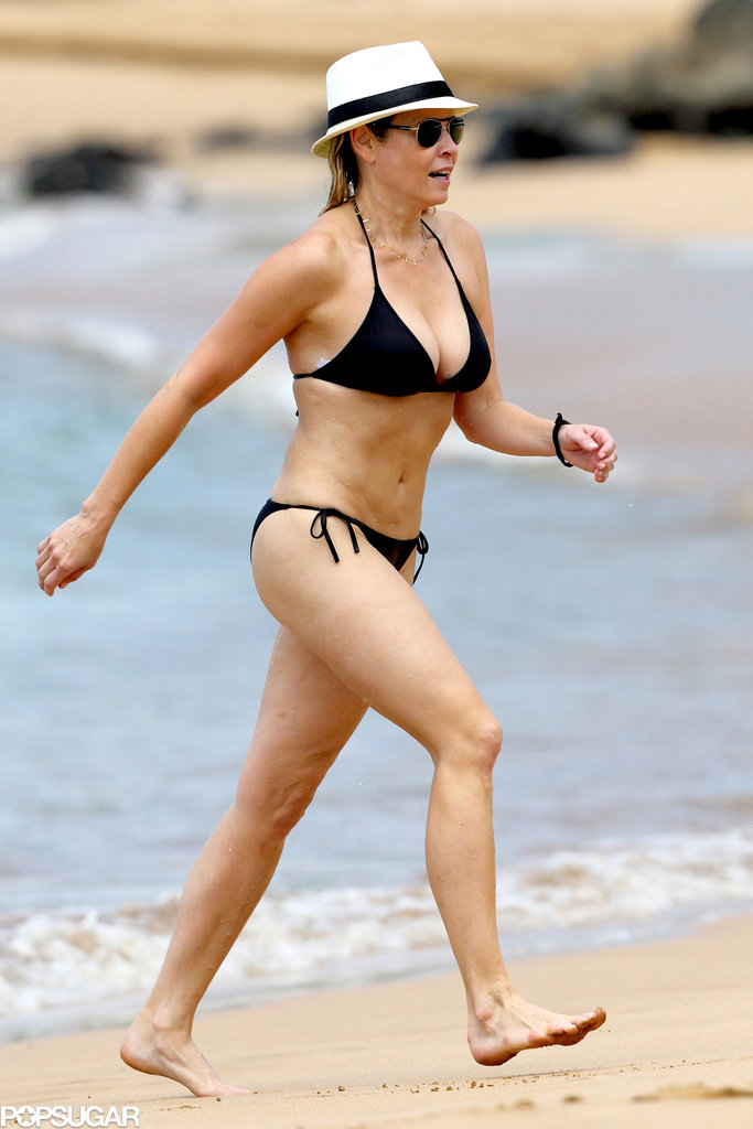 Chelsea Handler walked along the beach in Hawaii while on vacation.