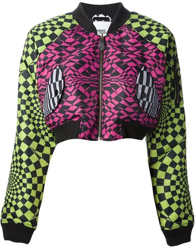 Adidas Originals By Jeremy Scott 'Op Art' bomber jacket