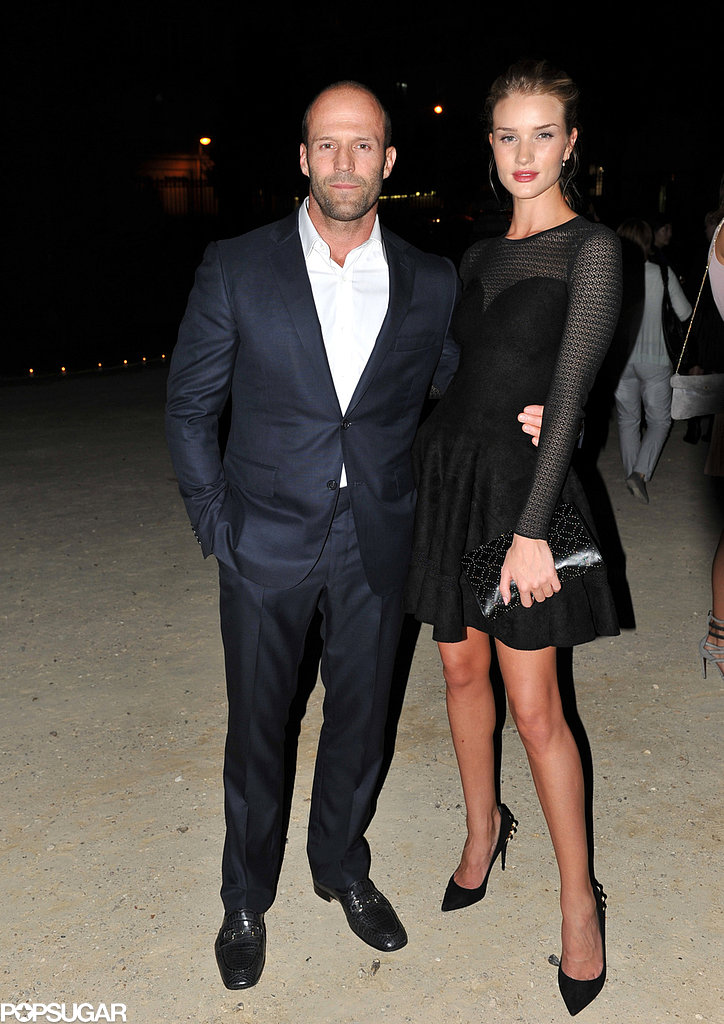 Rosie Huntington-Whiteley and Jason Statham attended the Azzedine Alaïa show on Wednesday.