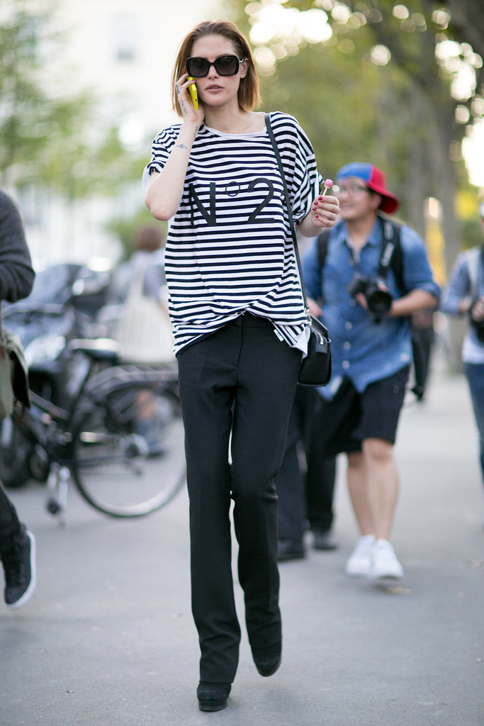 When in Paris, wear chic stripes.