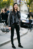 Liu Wen nailed biker chic.