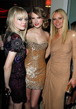 Gwyneth Paltrow posed with Taylor Swift and Emma Stone during the Vanity Fair Oscars afterparty in LA in February 2011.
