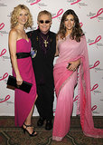 A hot pink-clad Gwyneth Paltrow hit the carpet with Elton John and Elizabeth Hurley for a Breast Cancer Research Foundation party in April 2008.