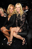 Gwyneth Paltrow and Beyoncé Knowles got cozy in the front row at the Grammys in February 2011.
