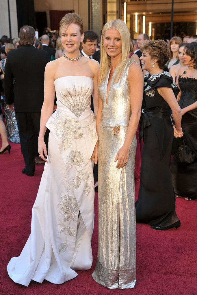 Nicole Kidman and Gwyneth Paltrow made a stunning pair on the red carpet at the Oscars in February 2011.