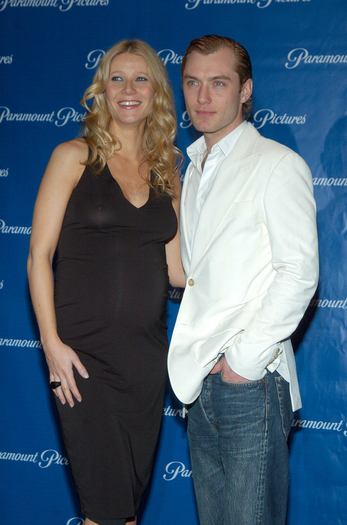 A pregnant Gwyneth Paltrow posed with her Talented Mr. Ripley costar Jude Law at a Paramount dinner in March 2004.