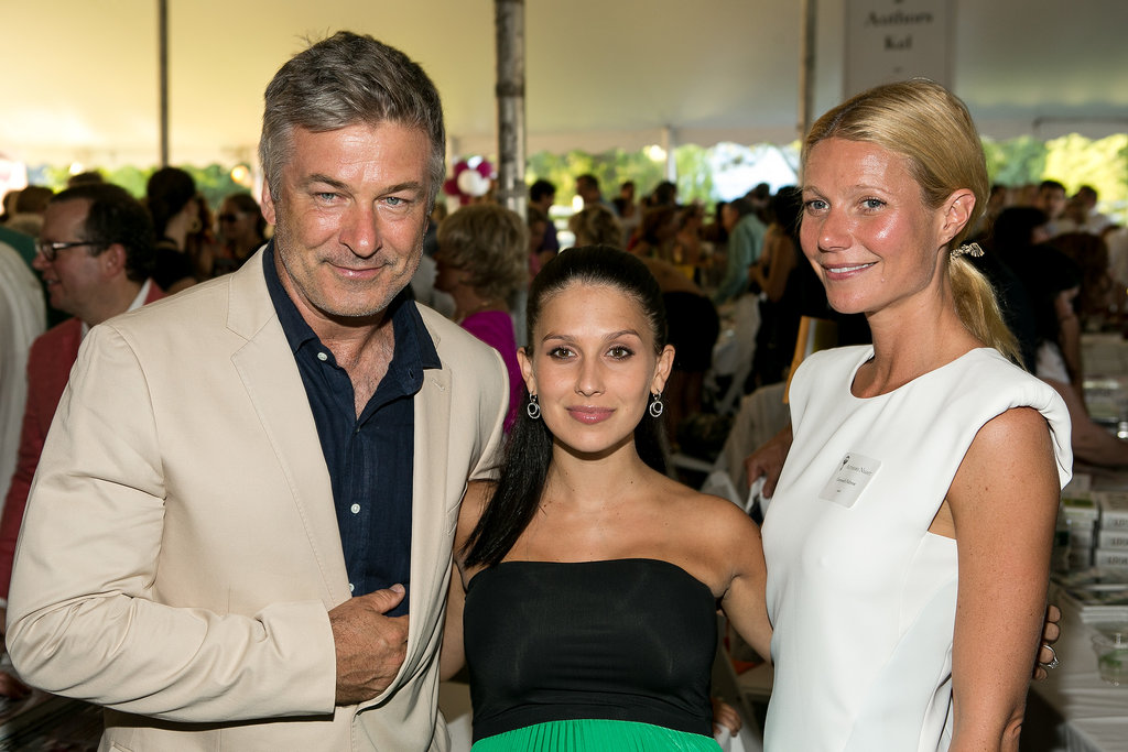 Gwyneth Paltrow was joined by Alec and Hilaria Baldwin at an Authors Night event at the East Hampton Library in August 2013.