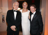 Gwyneth Paltrow hung out with comedy legends Steve Martin and Martin Short at the Vanity Fair Oscars afterparty in February 2012.