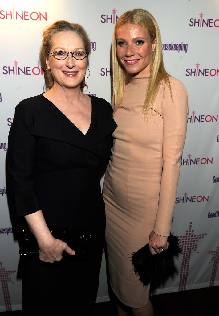 Gwyneth Paltrow met up with Meryl Streep at an awards ceremony in NYC in April 2011.