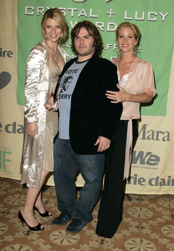 Gwyneth Paltrow was feted by Jack Black and Christina Applegate in LA at a Crystal + Lucy Awards event in her honor in June 2004.