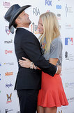 Gwyneth Paltrow got a sweet hug from her Country Strong costar Tim McGraw during the Stand Up to Cancer event in LA in September 2012.
