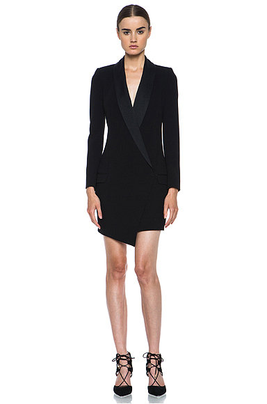 This Haute Hippie ($595) oversize asymmetrical blazer is minimalism at its best, and after a season of mixing prints and some compacted layering, I welcome a piece with understated elegance and clean lines. I recommend wearing this with bare legs and sky-high, strappy heels for your next night out. — MC