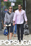 Kate Upton and Maksim Chmerkovskiy held hands as they walked in NYC.