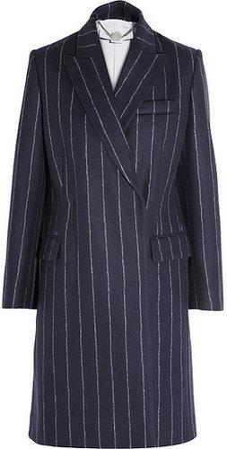 Stella McCartney Manteau en laine mélangée à rayures fines