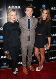 Amy Poehler, Adam Scott, and Jessica Alba shared a moment at Thursday night's premiere of A.C.O.D. in LA.