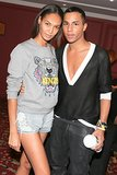 Joan Smalls and Olivier Rousteing took a moment to pose backstage at Balmain.