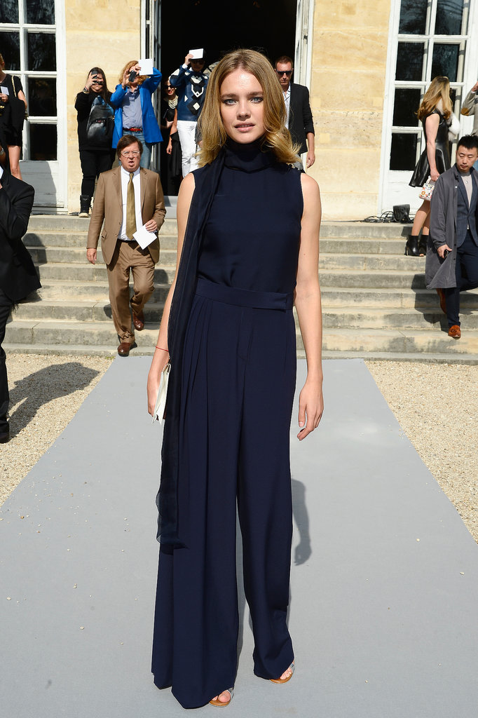 Natalia Vodianova was covered up yet sexy for Christian Dior's Spring runway.