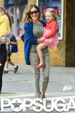 Sarah Jessica Parker carried her daughter Loretta Broderick.
