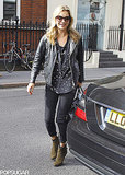 Kate Moss stepped out to pick up some lunch in her London neighborhood on Thursday.