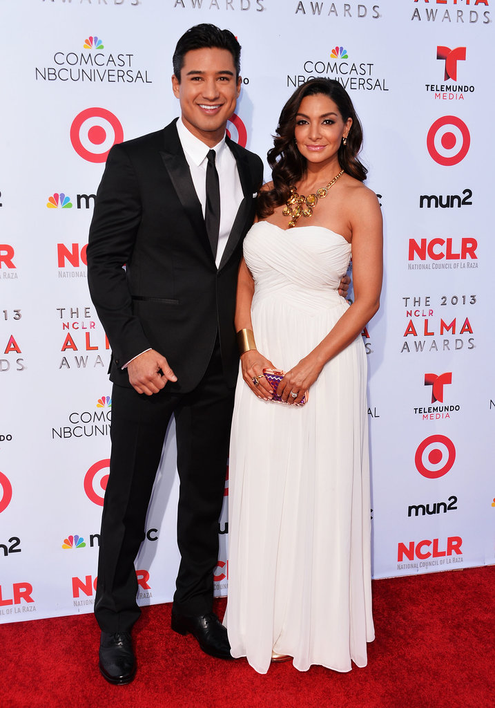 Mario Lopez walked the red carpet with his wife, Courtney Mazza, before hosting the ALMA Awards.