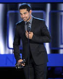 Wilmer Valderrama smiled as he accepted his ALMA award.