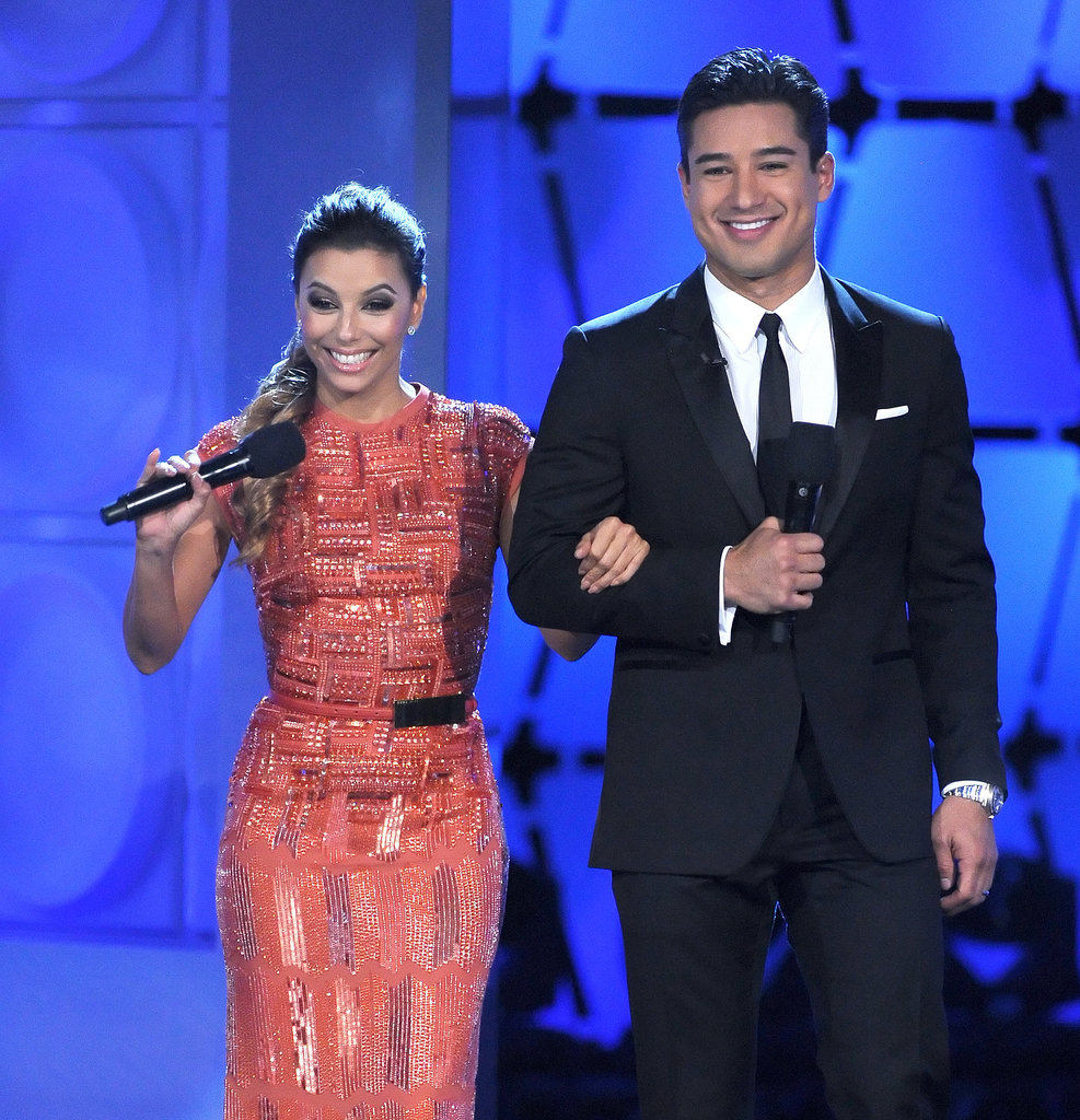Eva Longoria hosted the ALMA Awards alongside Mario Lopez.