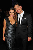 Mario Lopez linked up with his cohost Eva Longoria.