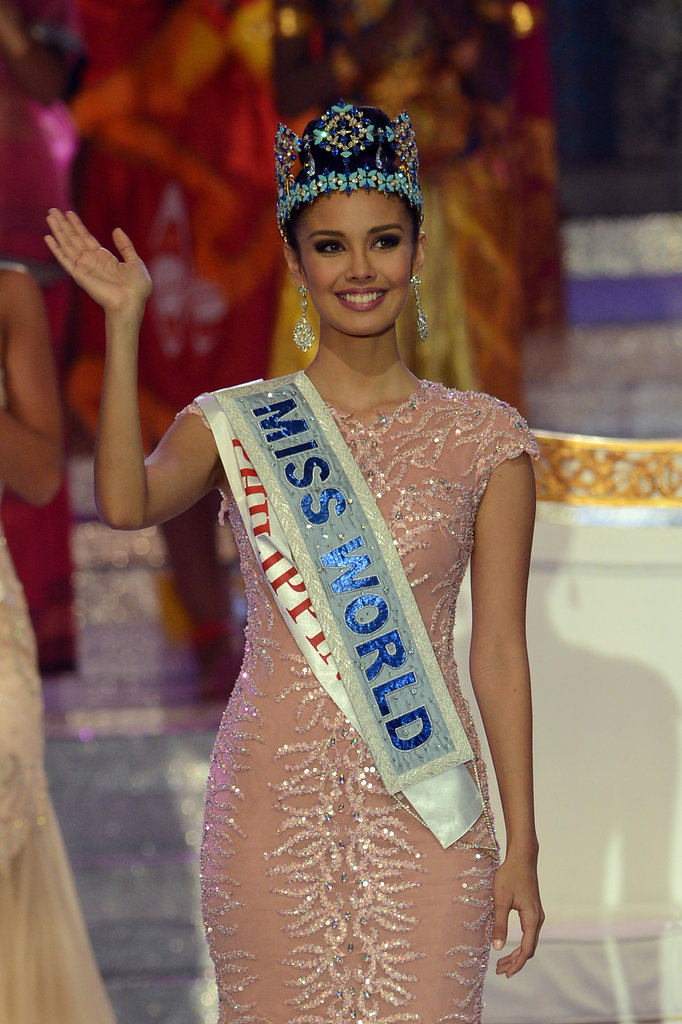 Miss World 2013 winner Megan Young waved to the crowd after she was crowned.