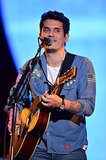 John Mayer took to the stage to perform.