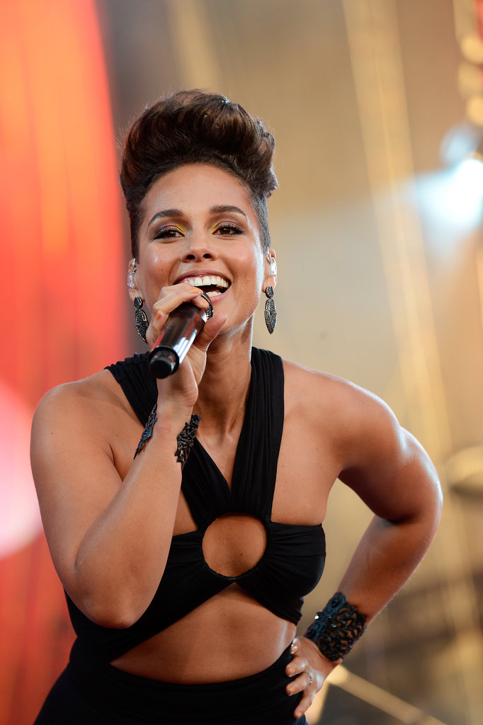 Alicia Keys was all smiles during the Global Citizen Festival.