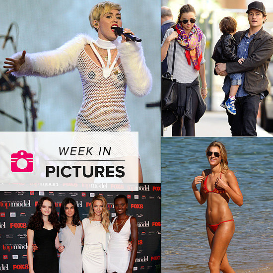 The Week in Pictures: Miley Bares (Almost) All, Miranda & Family Hit the Streets, The Emmys & More!