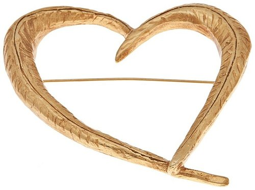 Christian Lacroix Vintage sculpted heart brooch