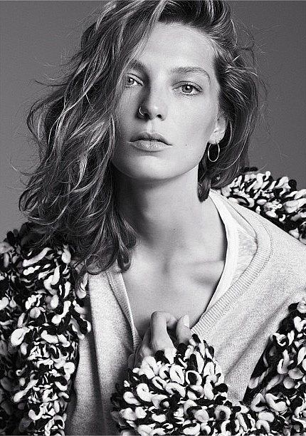 On Sept. 30, H&M tweeted an image of Daria Werbowy in the campaign for its Isabel Marant collaboration. Wool cardigan ($129), sweater ($60), top ($30) Source: Twitter user HM
