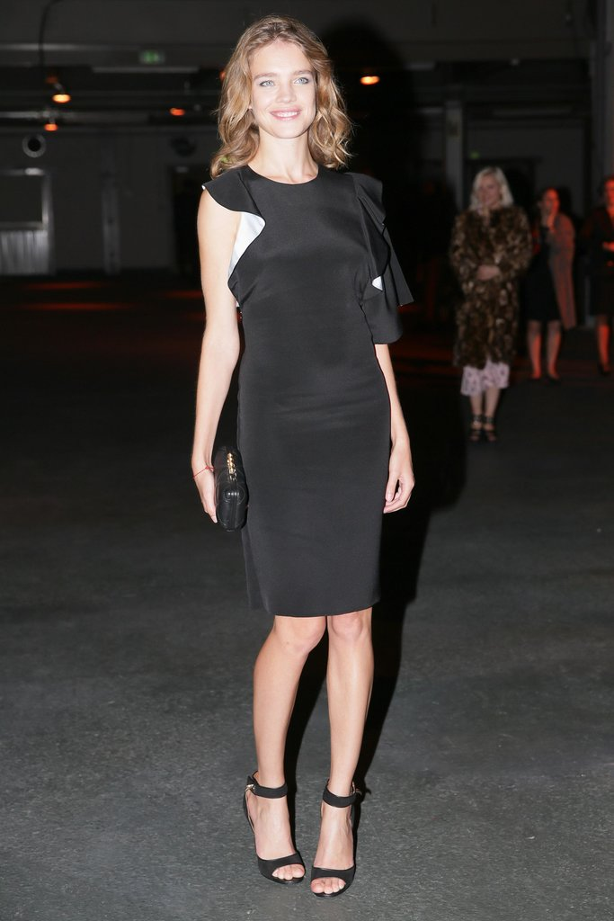 Natalia Vodianova made waves in a ruffled black dress at Givenchy.