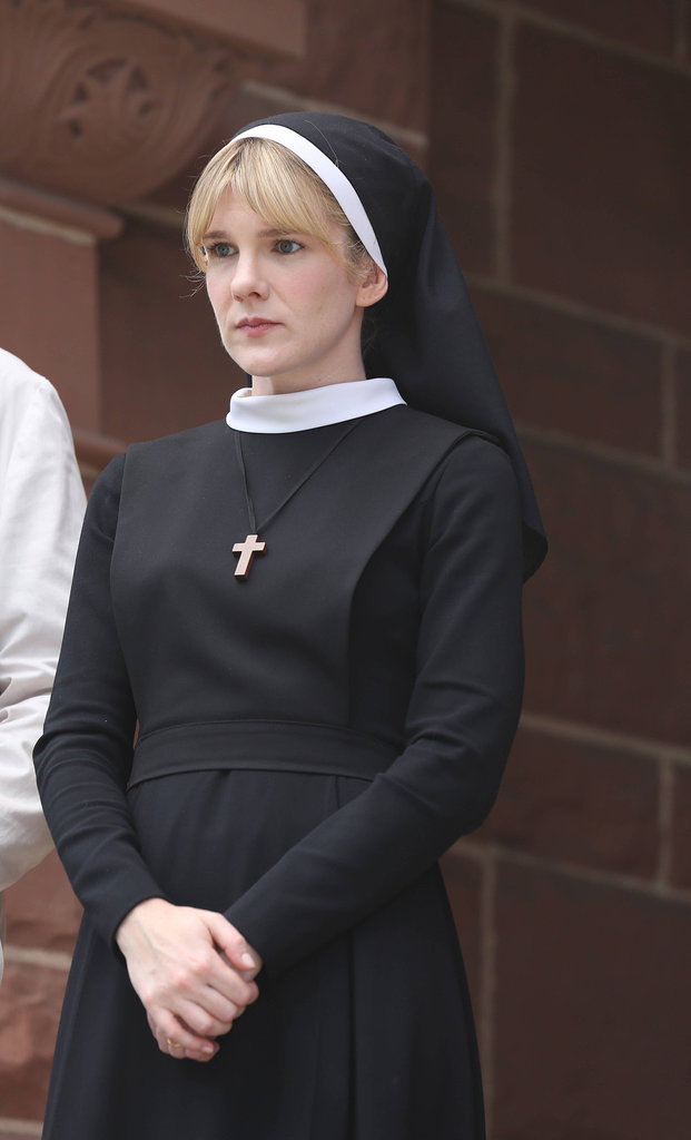 Sister Mary Eunice What to wear: A nun's habit, complete with a gold cross around your neck. How to act: Straight-up evil, but be sly about it.