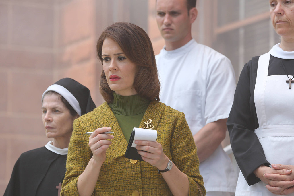 Lana Winters  What to wear: Well-coiffed hair, a green tweed skirt and jacket, and red lips. Bring along a notepad and pen. How to act: Take copious notes all night, and tell people you're going undercover.