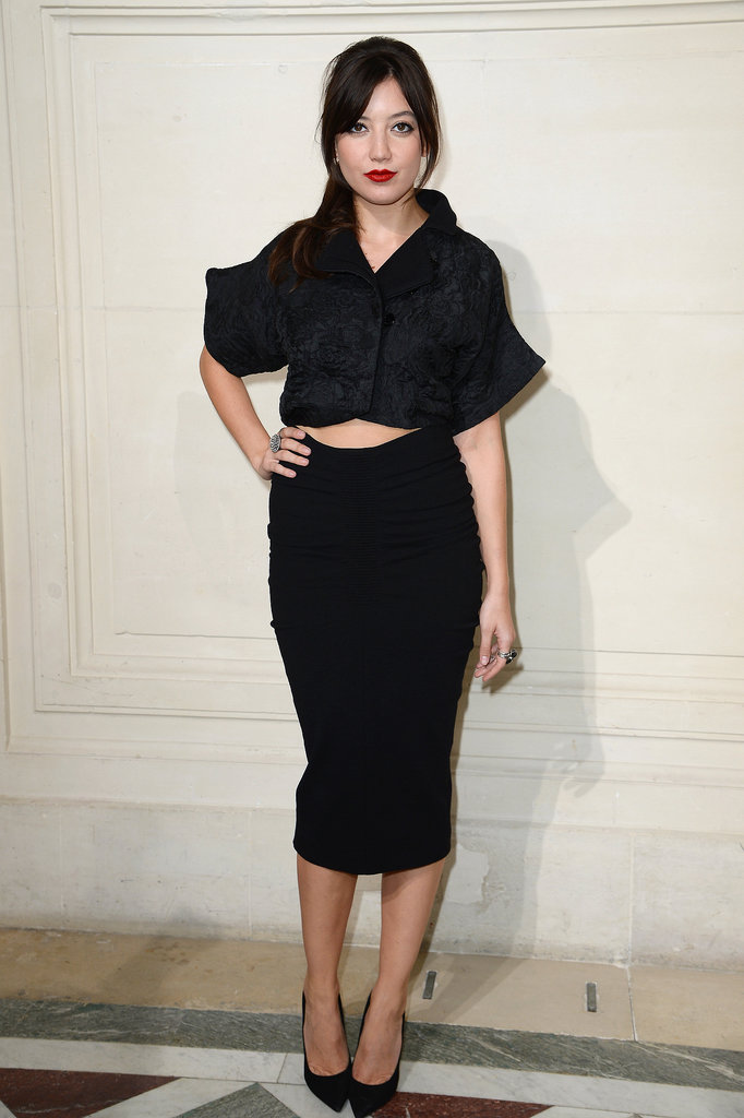 Daisy Lowe attended John Galliano's show on Sunday.