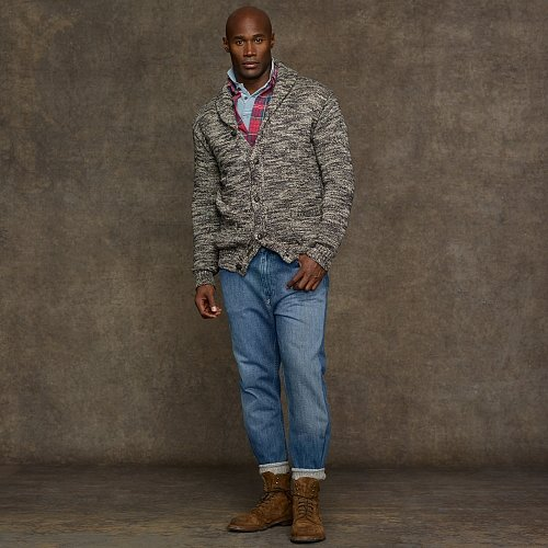 Big & Tall Polo Ralph Lauren Cotton Shawl-Collar Cardigan