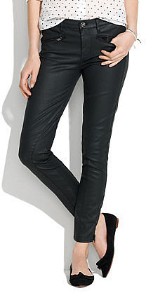 Skinny Skinny Ankle Coated Motorcycle Jeans