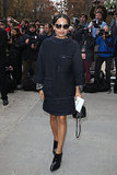 Zoë Kravitz arrived at the Chanel Spring 2014 fashion show.