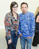 Fellow designers Laura Mulleavy and Humberto Leon supported Delfina Delettrez at the designer's presentation in Paris.
