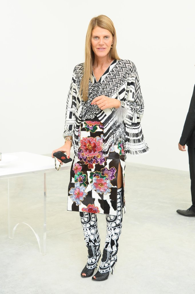 Anna Dello Russo was print-perfect while attending the Paris Fashion Week shows.
