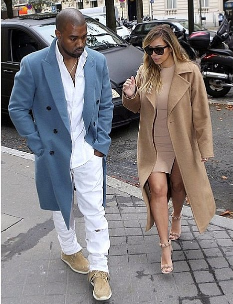 "Kim posted a #latergram of the couple's day in Paris with the hashtag ""#love."" Source: Instagram user kimkardashian"