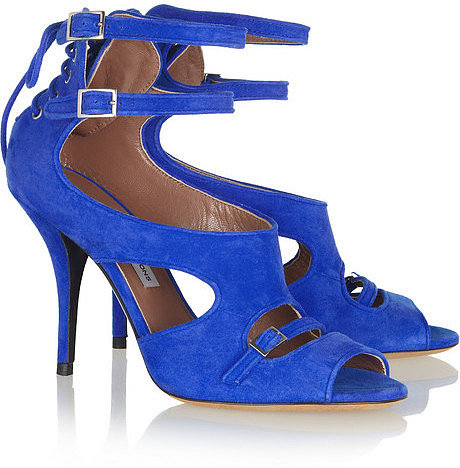 Tabitha Simmons LB suede sandals