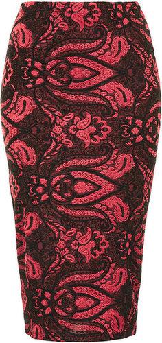 Baroque Print Tube Skirt