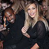 Kim Kardashian and Kanye West at Paris Fashion Week 2013